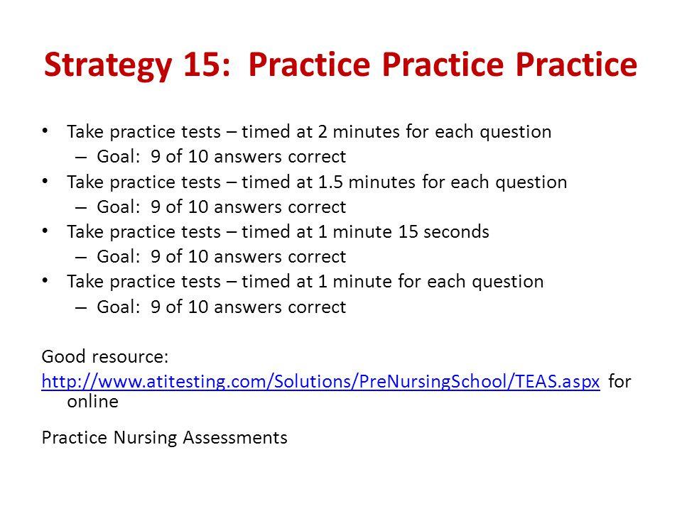 Strategy 15: Practice Practice Practice