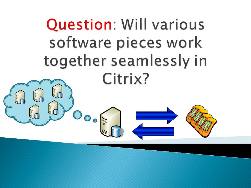 Question: Will various software pieces work together seamlessly in Citrix