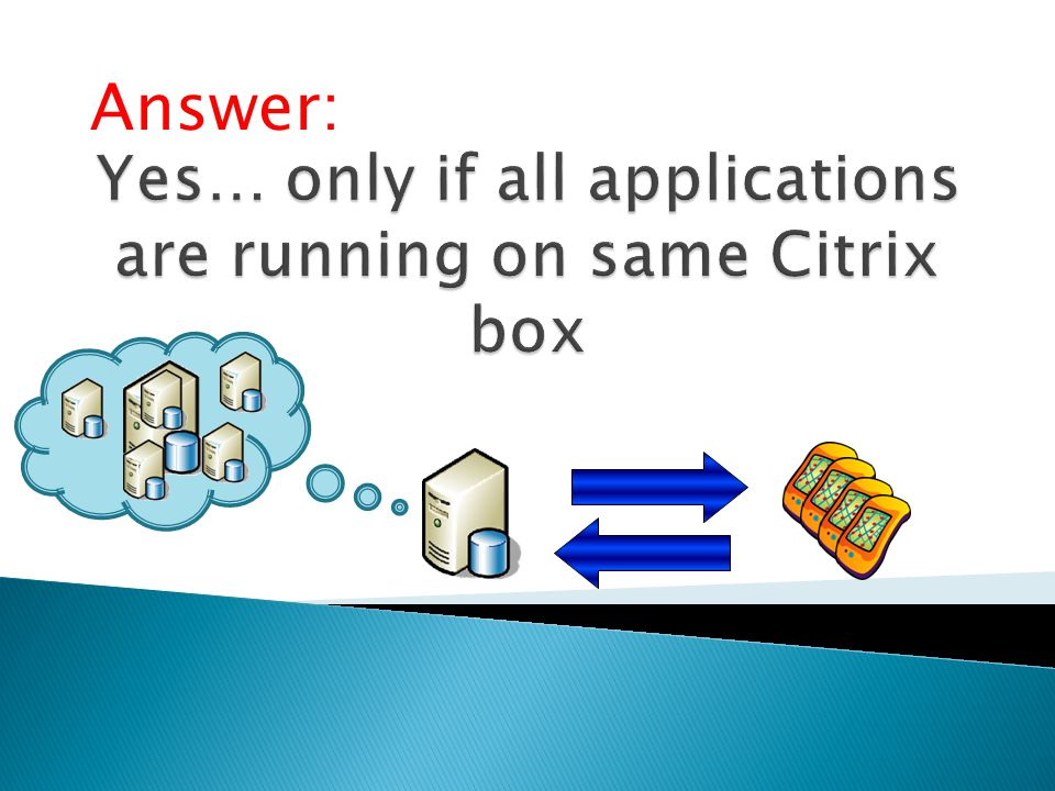 Yes… only if all applications are running on same Citrix box