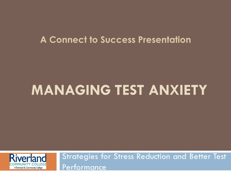 Strategies for Stress Reduction and Better Test Performance