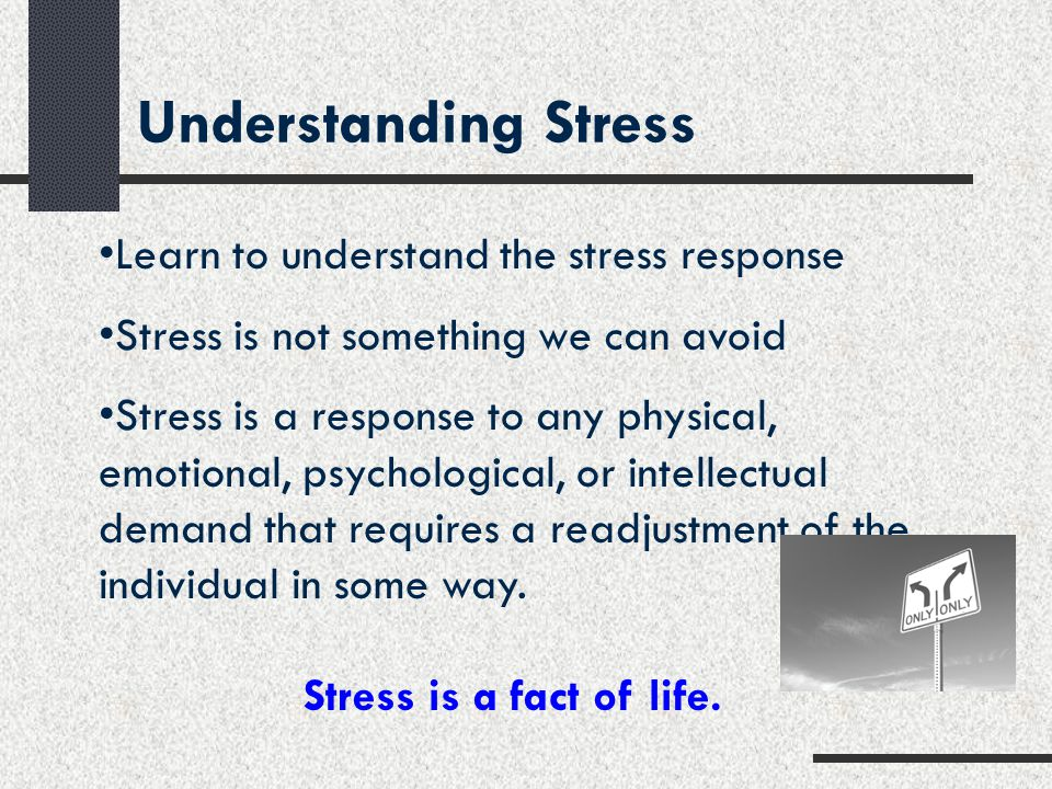 Understanding Stress Learn to understand the stress response