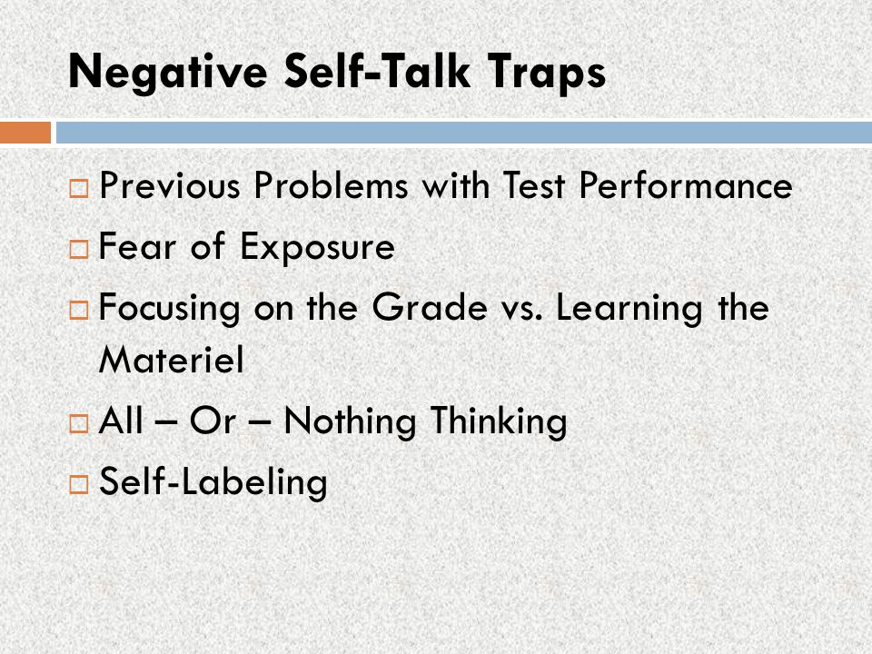 Negative Self-Talk Traps