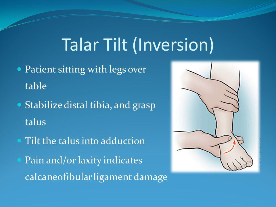 Talar Tilt (Inversion)