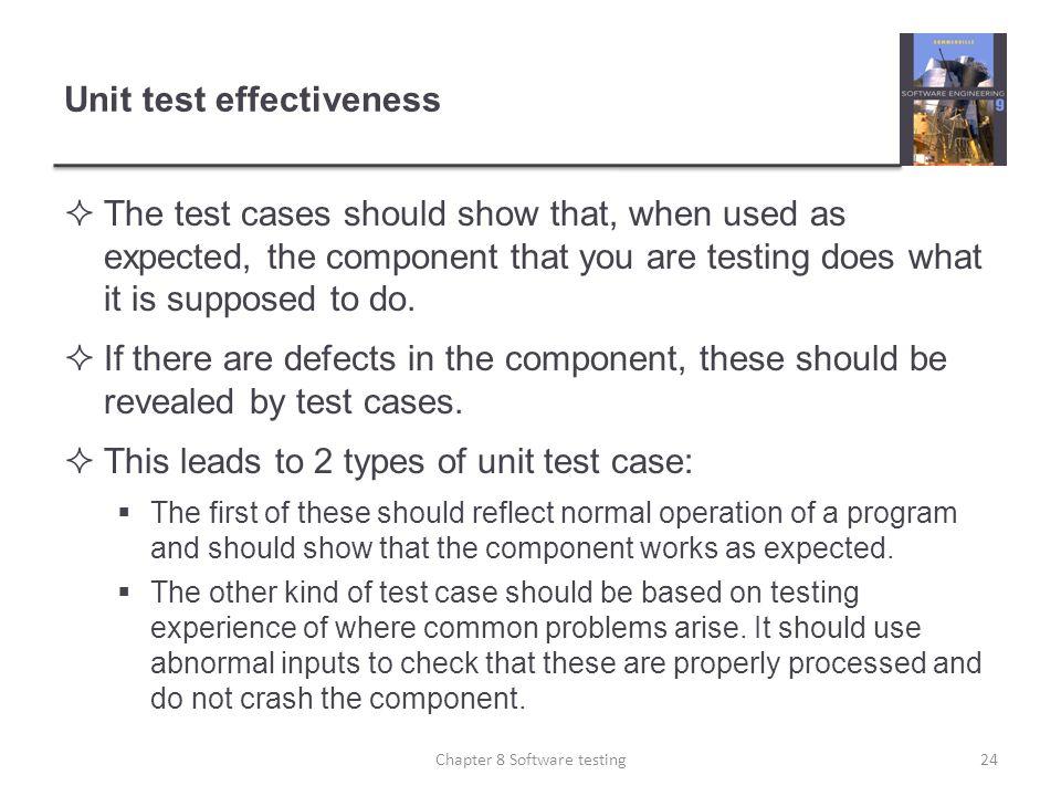 Unit test effectiveness