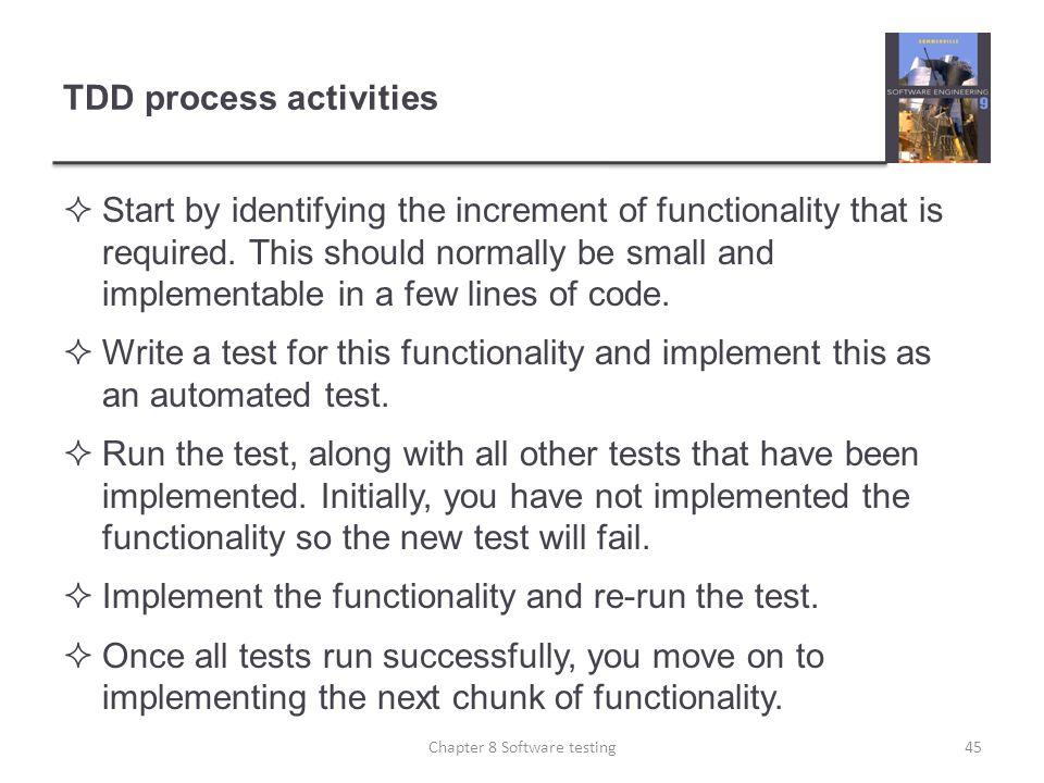 TDD process activities