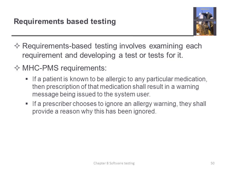 Requirements based testing
