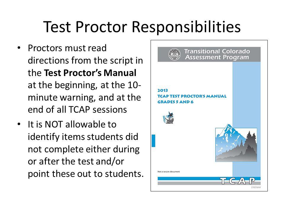 Test Proctor Responsibilities