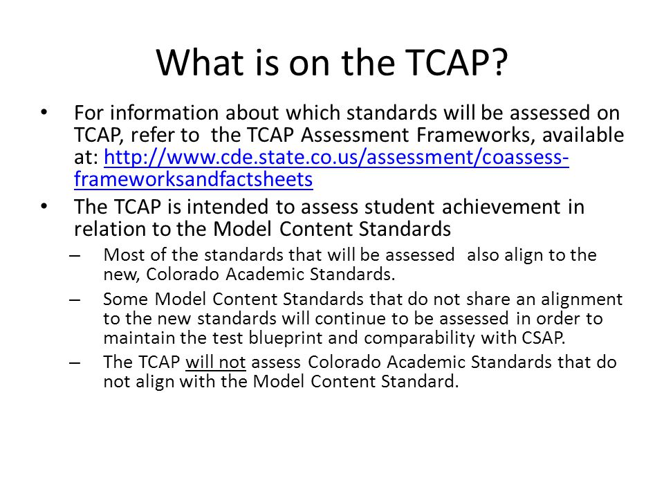 What is on the TCAP