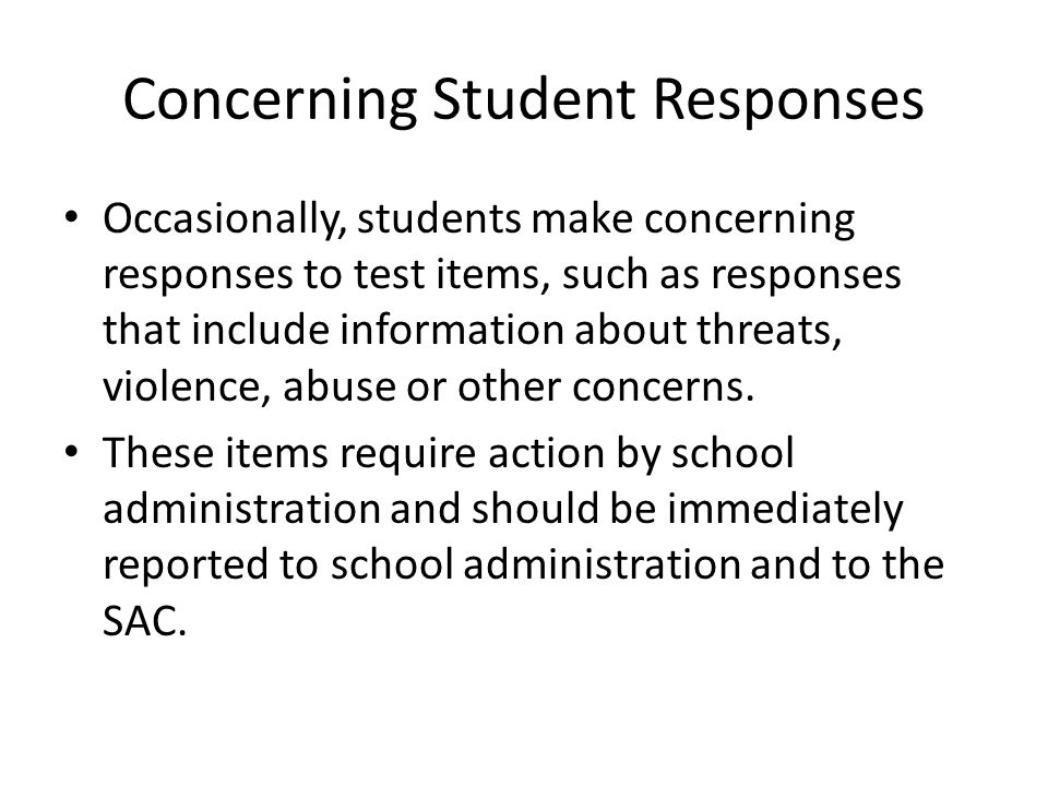 Concerning Student Responses