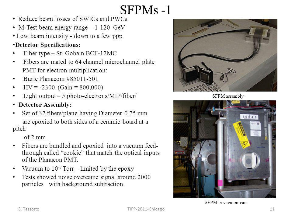 SFPMs -1 • Reduce beam losses of SWICs and PWCs