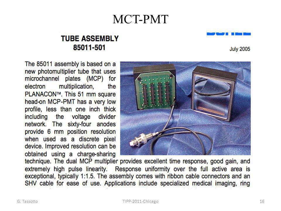 MCT-PMT G. Tassotto TIPP-2011-Chicago