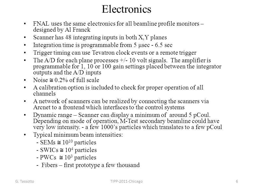 Electronics FNAL uses the same electronics for all beamline profile monitors – designed by Al Franck.