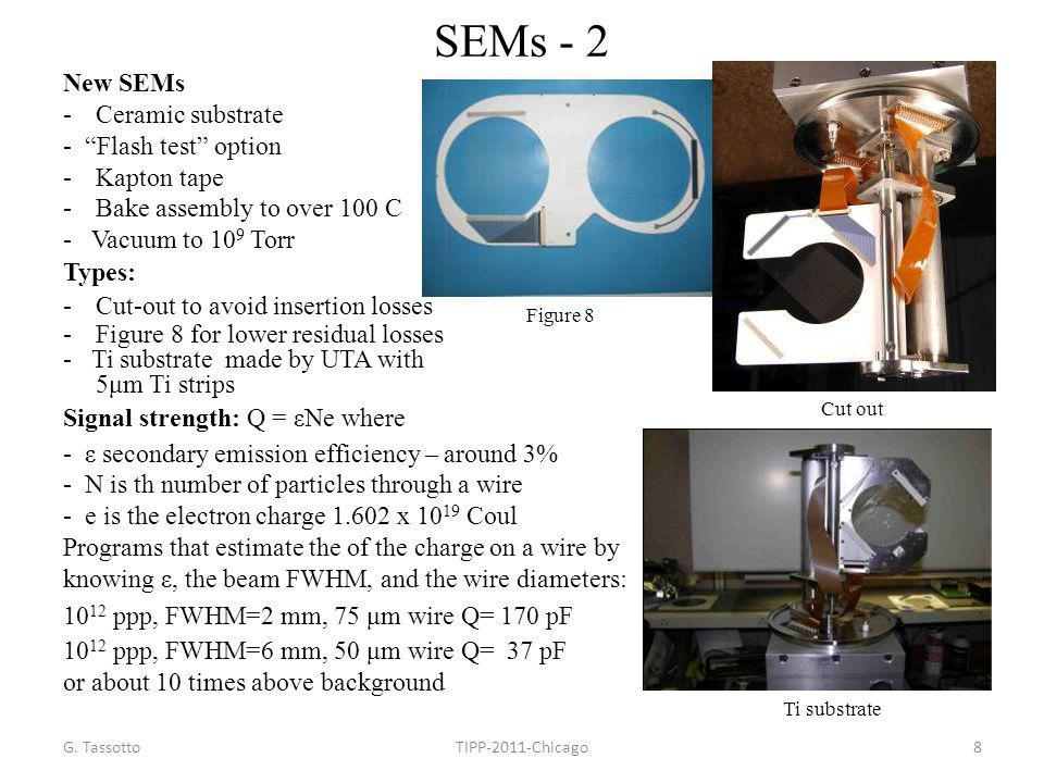 SEMs - 2 New SEMs Ceramic substrate - Flash test option Kapton tape