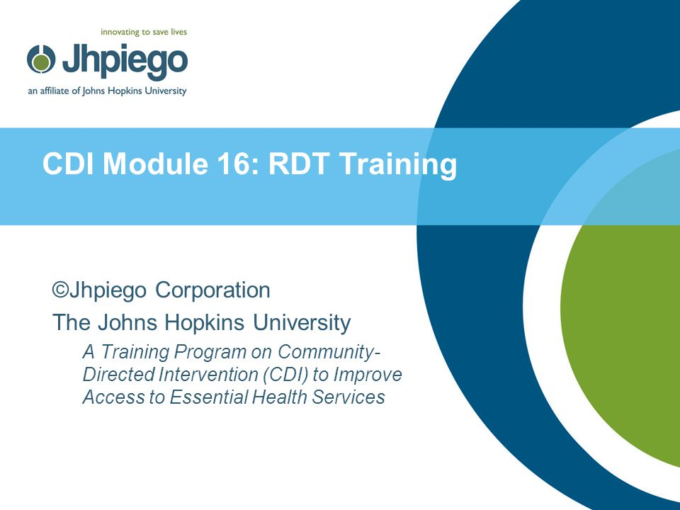 CDI Module 16: RDT Training