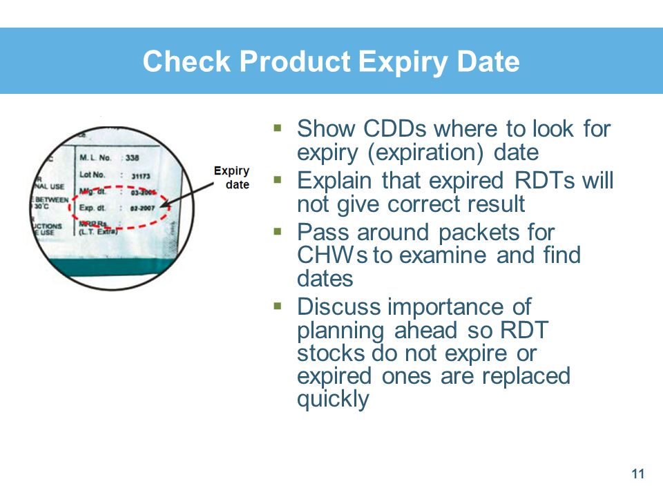 Check Product Expiry Date