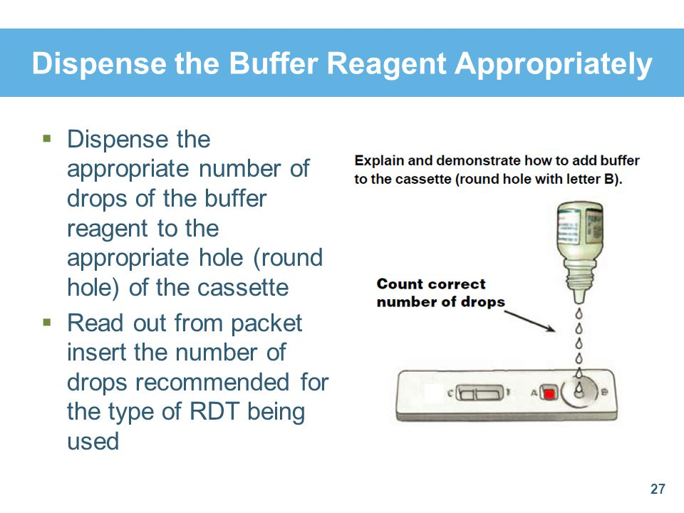 Dispense the Buffer Reagent Appropriately