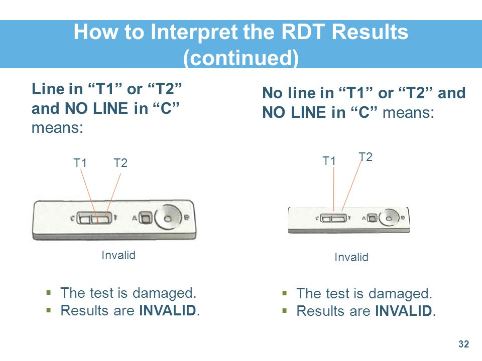How to Interpret the RDT Results (continued)