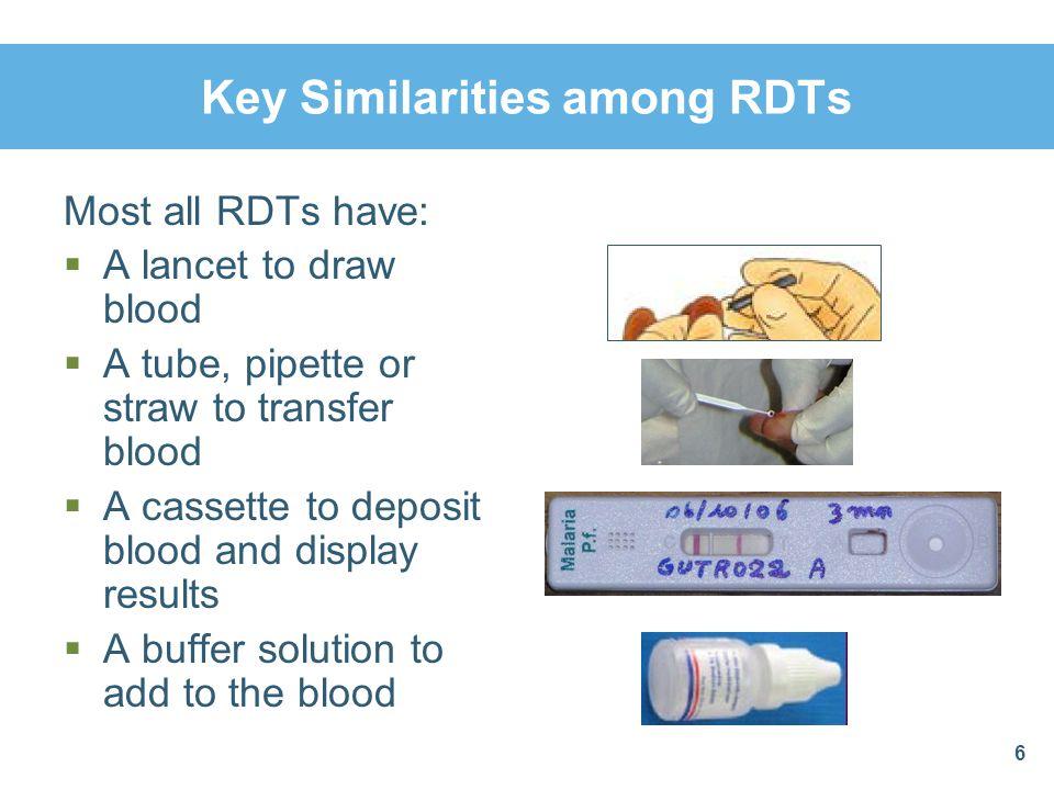 Key Similarities among RDTs