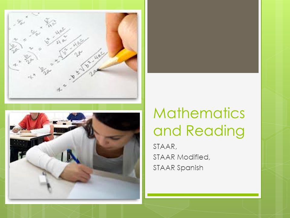 Mathematics and Reading