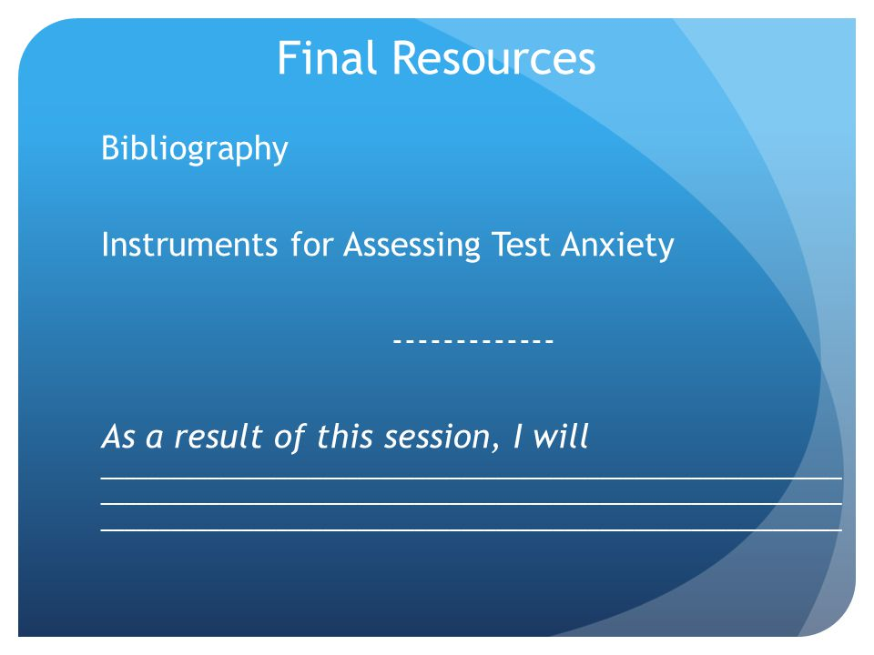 Final Resources