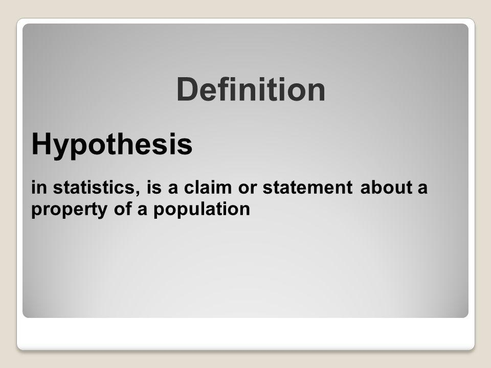 Definition Hypothesis
