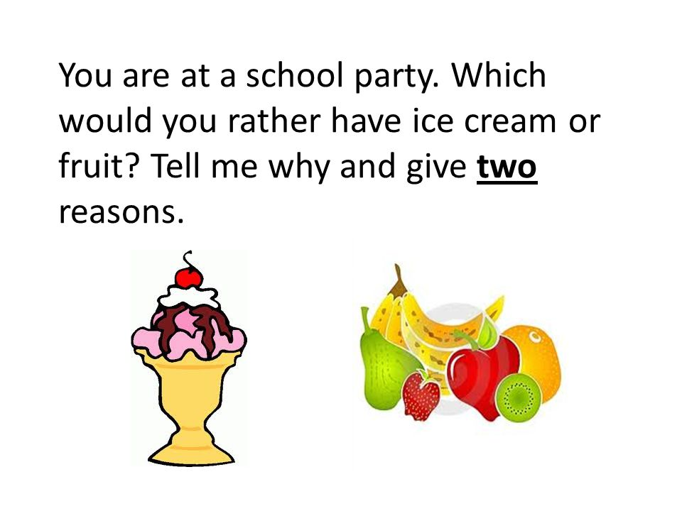 You are at a school party