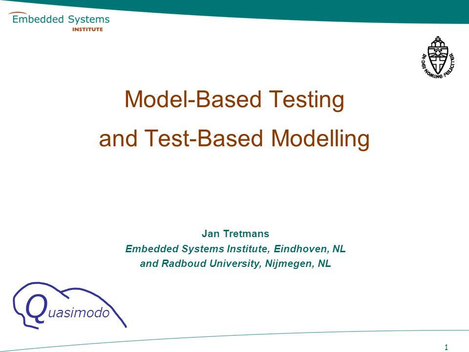 Model-Based Testing and Test-Based Modelling