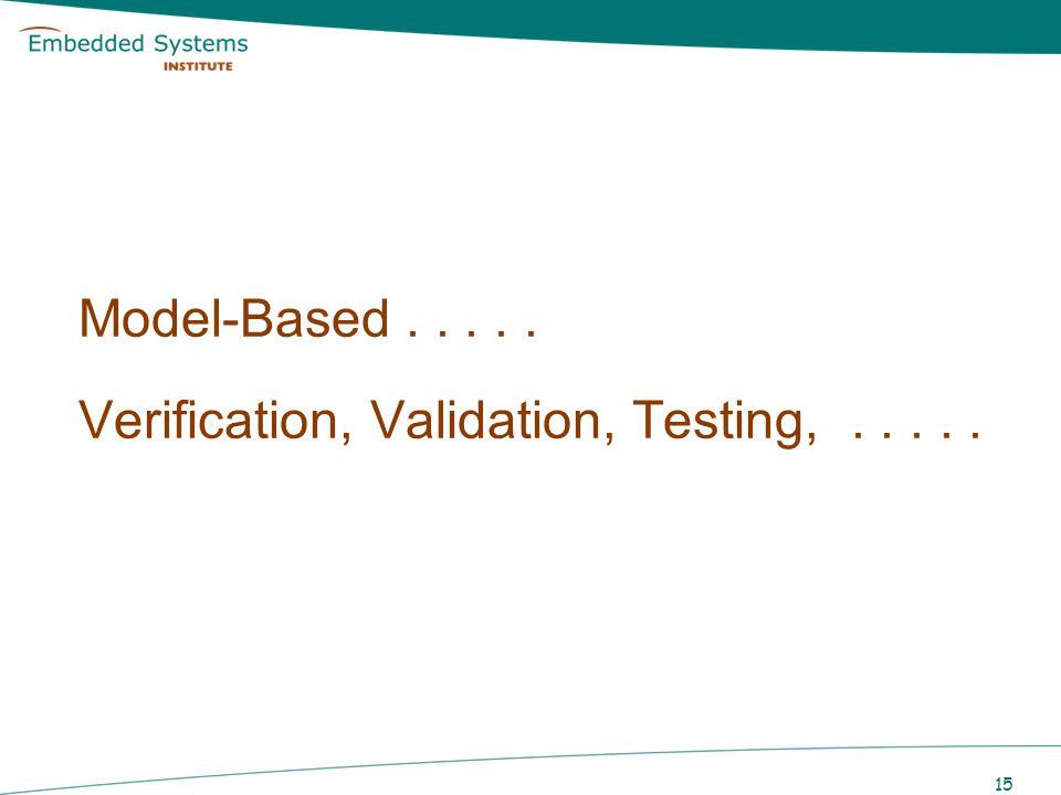 Model-Based . . . . . Verification, Validation, Testing, . . . . .