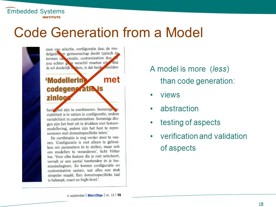 Code Generation from a Model