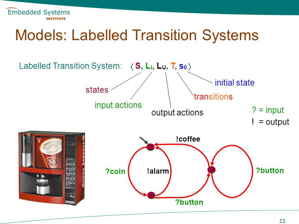 Models: Labelled Transition Systems