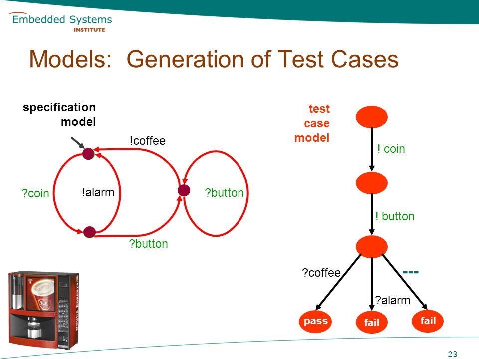Models: Generation of Test Cases