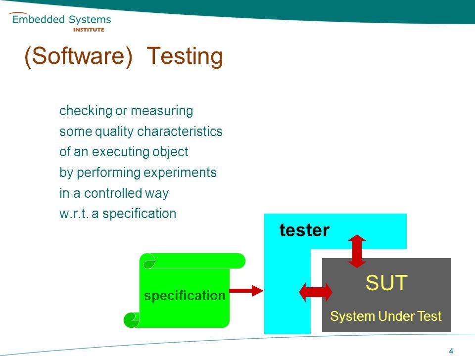 (Software) Testing SUT
