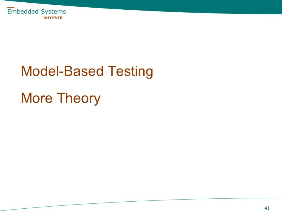 Model-Based Testing More Theory