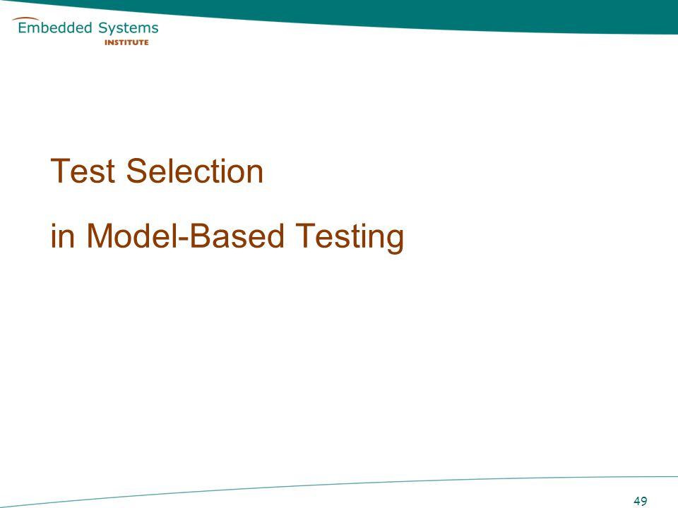 Test Selection in Model-Based Testing