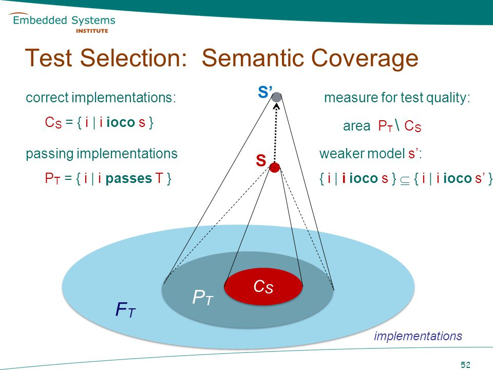 Test Selection: Semantic Coverage