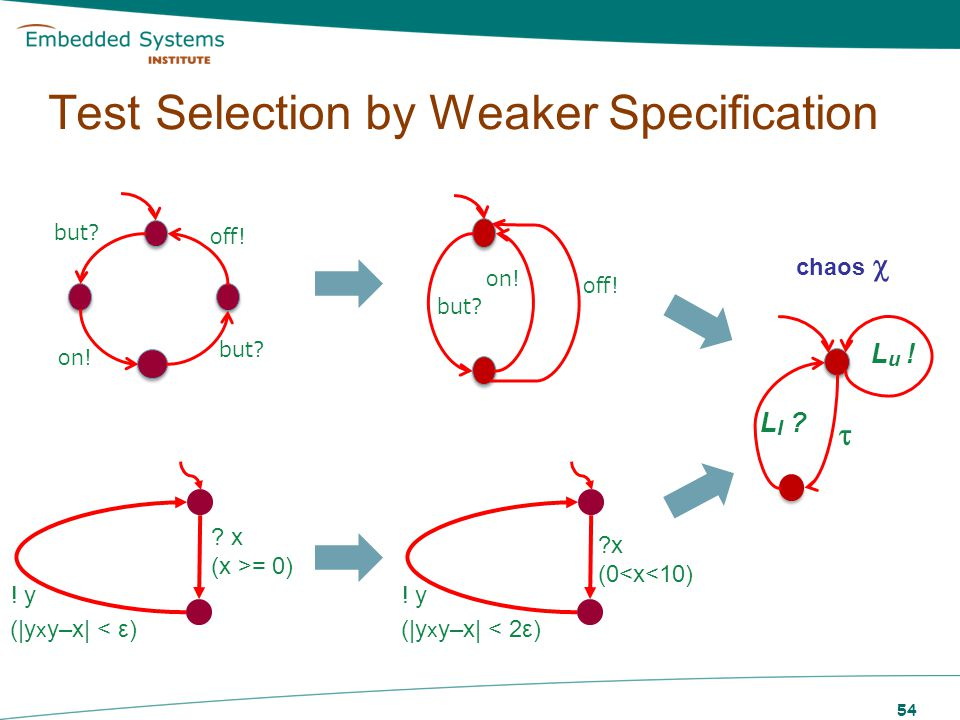 Test Selection by Weaker Specification