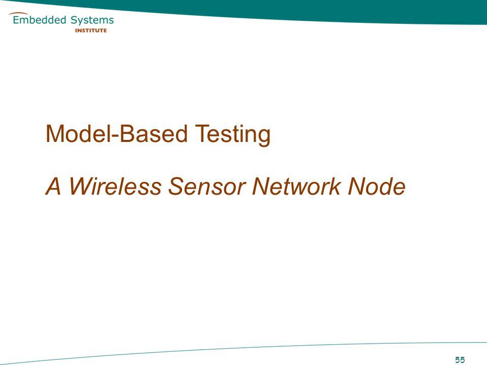 Model-Based Testing A Wireless Sensor Network Node