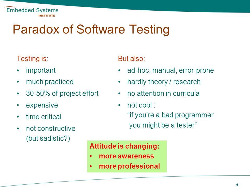 Paradox of Software Testing