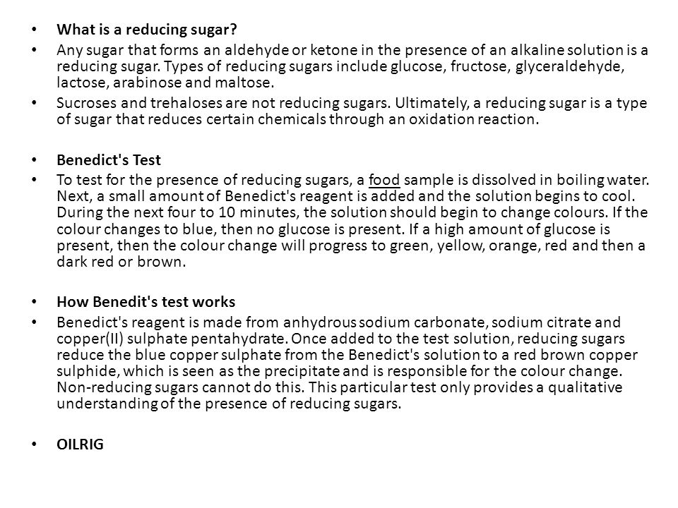 What is a reducing sugar