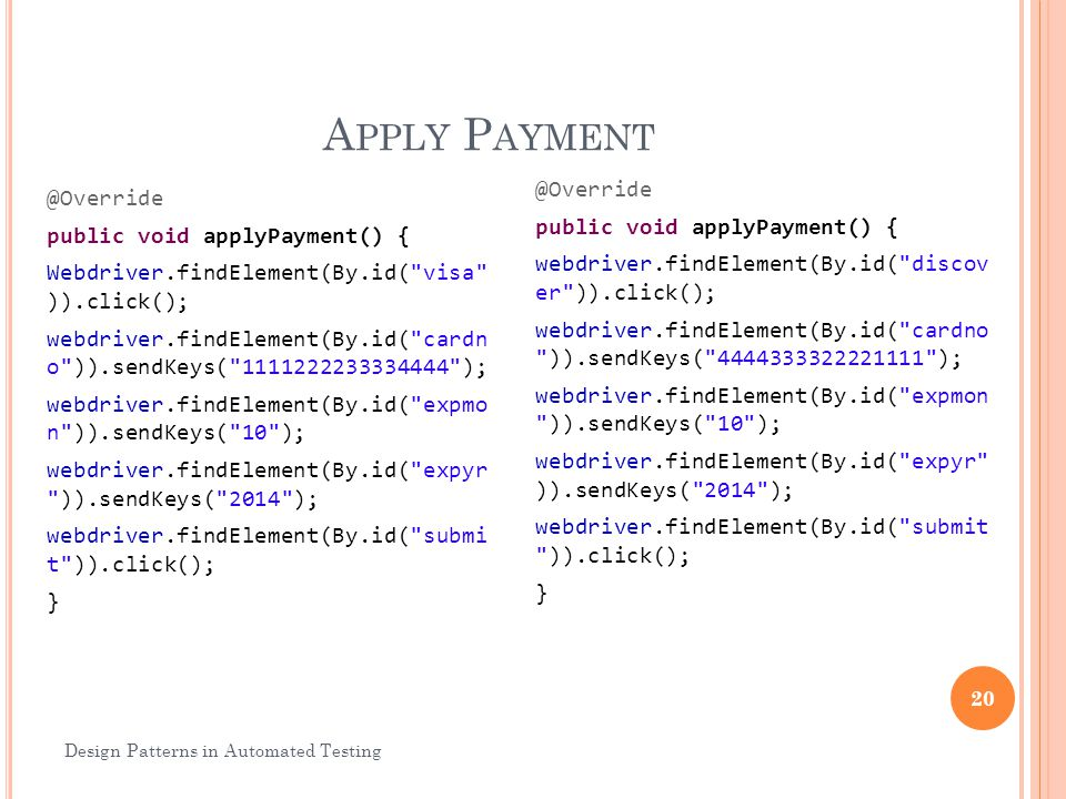Apply Payment
