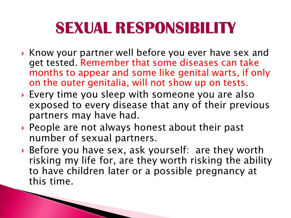 SEXUAL RESPONSIBILITY