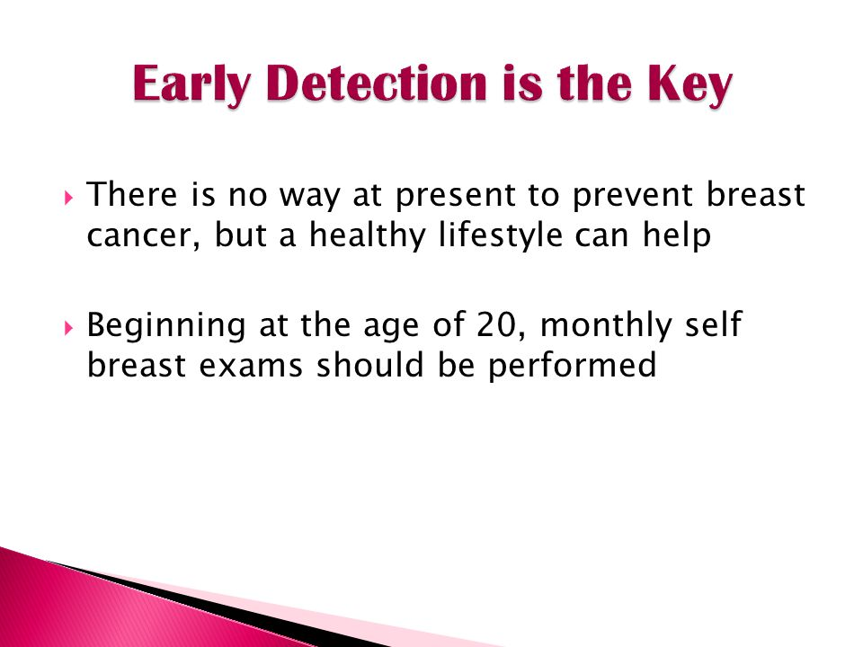 Early Detection is the Key