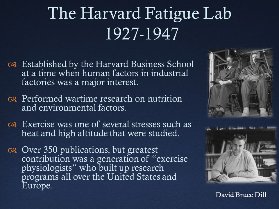 The Harvard Fatigue Lab 1927-1947