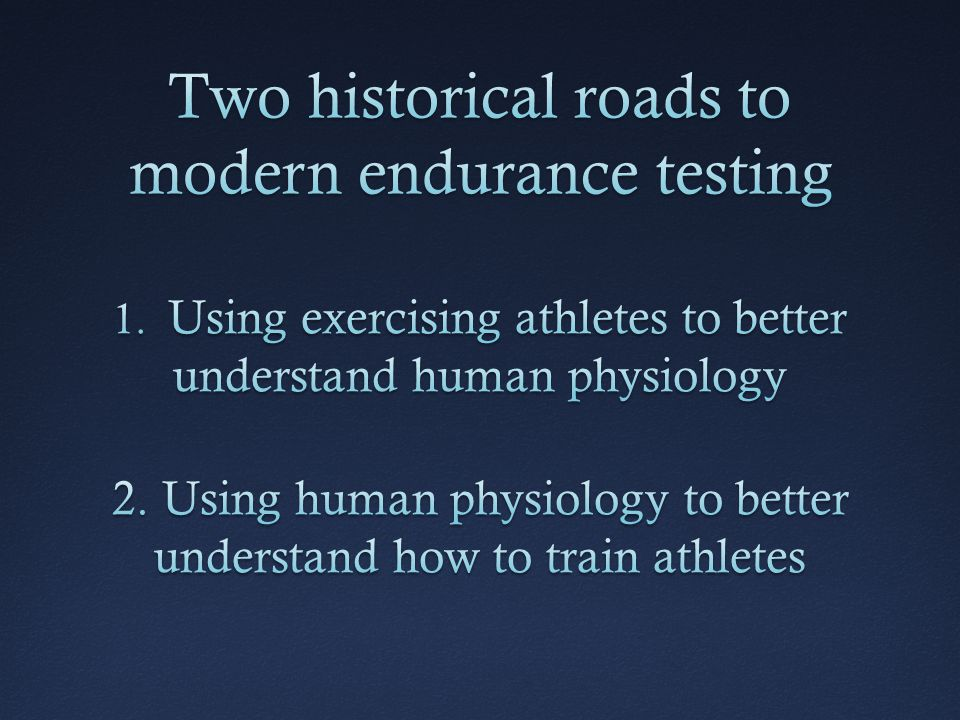 Two historical roads to modern endurance testing