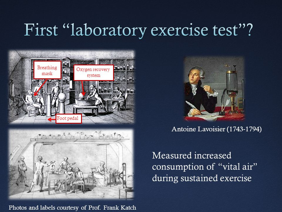 First laboratory exercise test