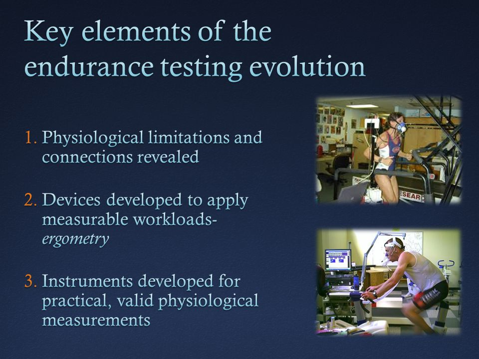Key elements of the endurance testing evolution