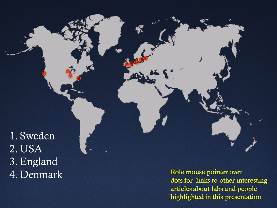 Sweden USA England Denmark Role mouse pointer over