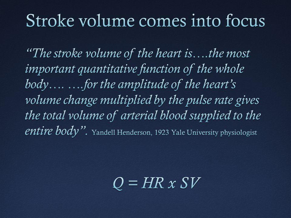 Stroke volume comes into focus
