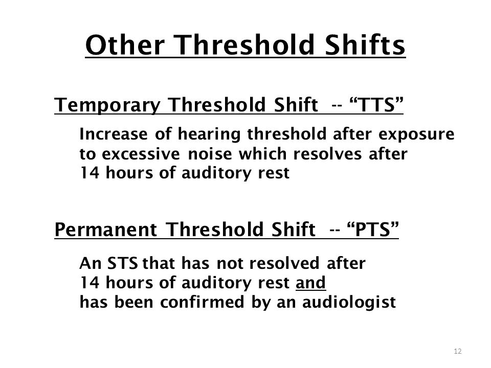 Other Threshold Shifts