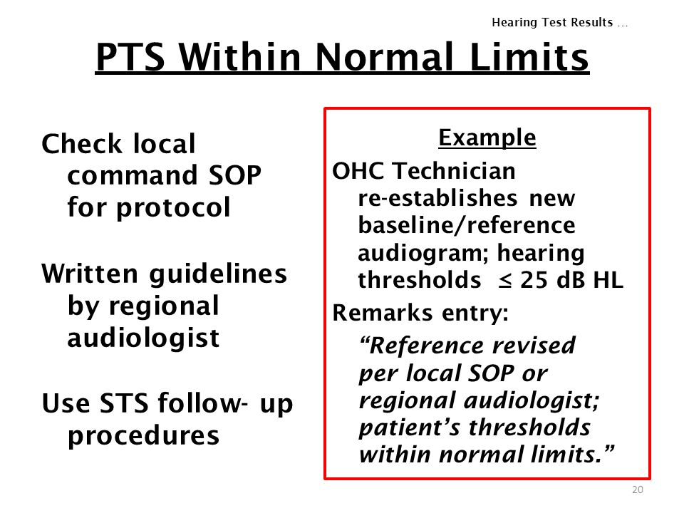 PTS Within Normal Limits